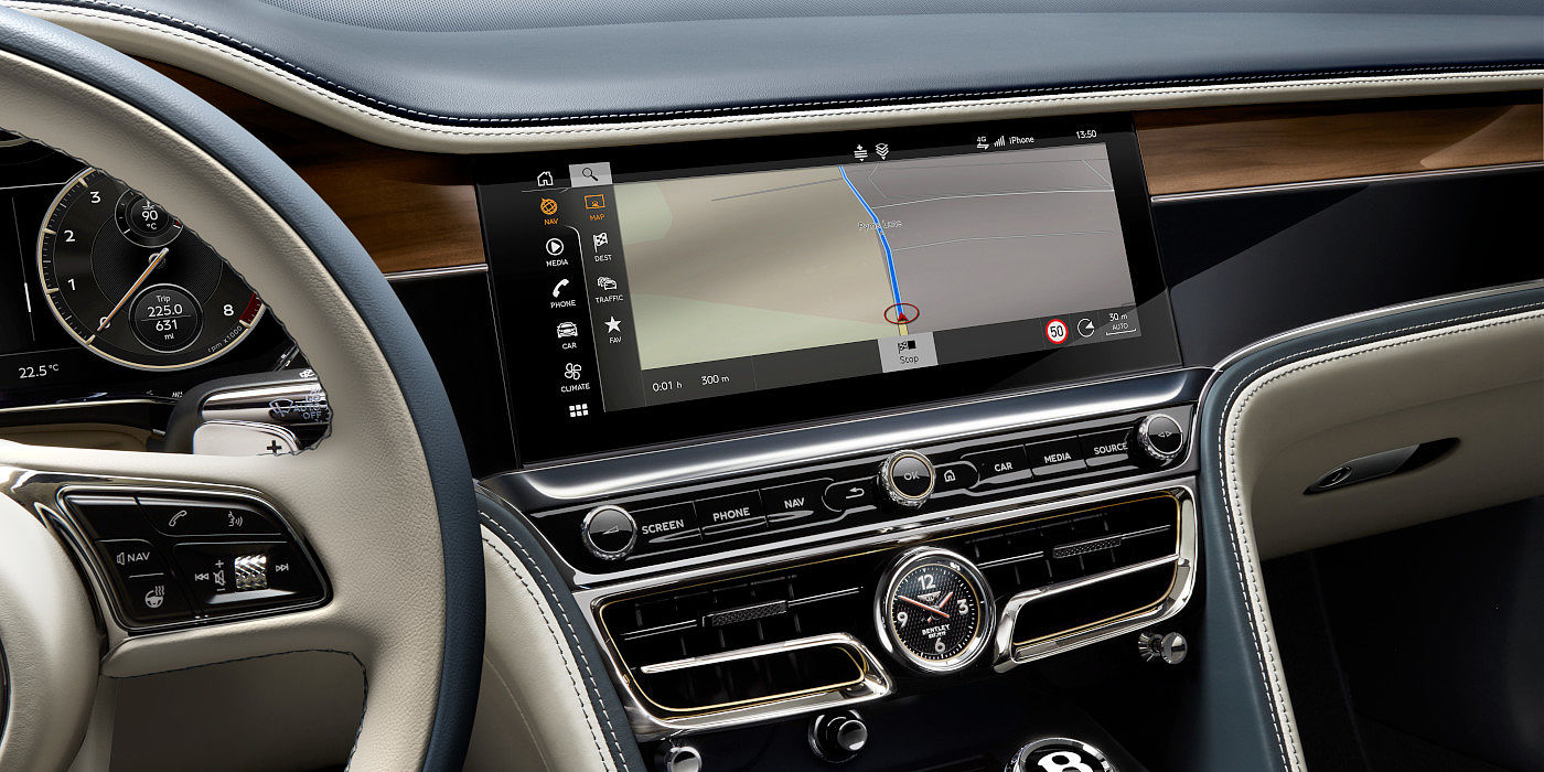 NEW-BENTLEY-FLYING-SPUR-2020-ROTATING-DISPLAY-CLOSE-UP-NAVIGATION